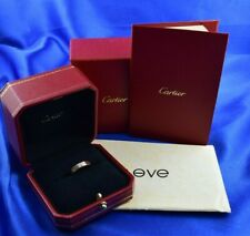 Cartier 1 Diamond Love Ring 18K Rose Gold Box & Papers Size 50