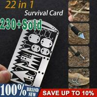 22 in 1 Camping Survival Card Wildnis Survival Gear Kit Jagd Wandern Werkzeuge