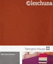 ✿ TARRINGTON HOUSE BAUMWOLL-SATIN SPANNBETTLAKEN 100x200 TERRA SPANN-BETTLAKEN ✿