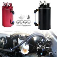 Oil Catch Reservoir Tank Can Breather Kit Billet Aluminum Cylinder Black/Red set