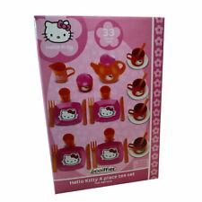 Hello Kitty Teeservice 33 Teile Kinder Spielzeug Geschirr Teller Tassen be079