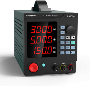 RockSeed RS305P DC Power Supply Programmable,30V/5A Adjustable Switching Power