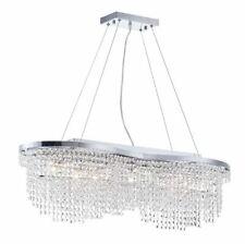Diamant 7 Light Crystal Ceiling Chandelier Nickel Finish Drop Crystal Pendants