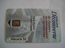 PHONECARD TELECARTE ALAIN MARION GERARD CAUSSE MUSIQUE