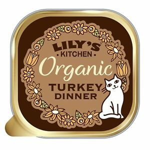 Lily's Kitchen Adult Organic Turkey Dinner Complete Wet Cat Food (19 x 85 g)