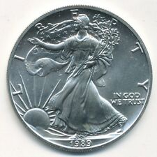 1989 AMERICAN SILVER EAGLE 1 OZ .999 FINE SILVER COIN  - FREE SHIPPING