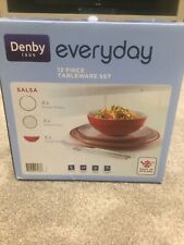 More details for denby 12 piece tableware set - everyday - salsa - brand new in box.