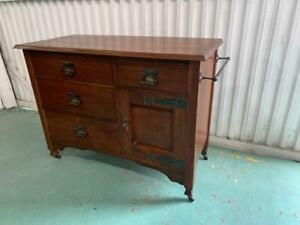 H41038 Vintage Blackwood Washstand Drinks Cart Chest of Drawers Bench