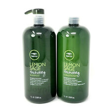 NEW [ PAUL MITCHELL ] Tea Tree Lemon Sage Conditioner & Shampoo 33.8oz SET
