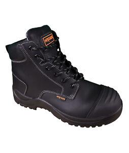 Hercules Unisex Steel Toe Ground Boot - Black - 940