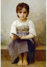 William-Adolphe Bouguereau The Difficult Lesson Art Print Poster - 13x19