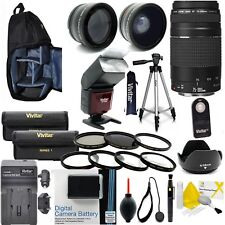CANON REBEL T6 ACCESSORIES BUNDLE / KIT INCLUDES Canon EF 75-300mm f/4-5.6 III
