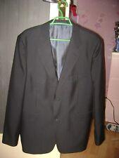 Veste homme habillée mi saison taille S / M grise légères rayures d'occasion.