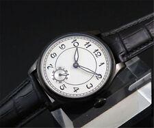 44 mm parnis Seagull Hand Winding mouvement Garçons Men's Casual montre PVD case noir