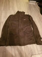 Superdry Military Khaki Green Jacket Size Medium Mans   Excellent condition coat