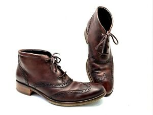 Cole Haan Boots Men's 10 1/2 M Liam Chukka Wing Tip Brown Leather C11053 U J14