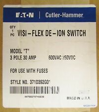 EATON CUTLER HAMMER VISI FLEX DEION SWITCH Model T Switch 3P 30 Amp 371D392G01