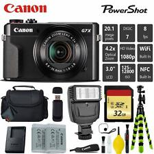 Canon PowerShot G7 X Mark II Point and Shoot Digital Camera + Extra Battery + Di