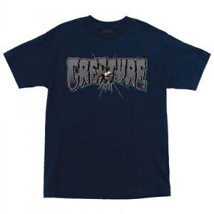 CREATURE - Phantasm - T-Shirt - Skateboard Tee - Large - Navy