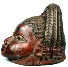 Art Africain - Ancien Masque Yoruba Yorouba Gelede - Coiffe Complexe - 22,5 Cms