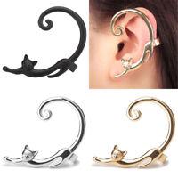 Fashion Cat Clip Ear Cuff Stud Women's Punk Wrap Cartilage Earrings Jewelry