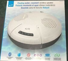iLive ISBW305W Floating Water Resistant IPX7 Bluetooth Wireless Speaker Pool Tub