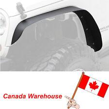 4x Textured Black Steel Front Rear Flat Fender Flares For Jeep Wrangler 07-18 JK