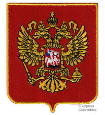 RUSSIA Россия SHIELD BIKER PATCH EMBROIDERED IRON-ON RUSSIAN COAT ARMS CREST