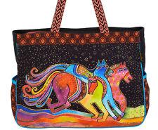 Laurel Burch Colorful Horses Lg OVERSIZED Tote Bag Caballos de Colores New 2018