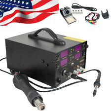 Professional 4 In1 909D+ Rework Soldering Station Power Supply Hot Heat Air Gun