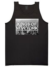 Kings Of NY New York City Skyline Sleeveless Graphic Tee Tank Top T-Shirt Black