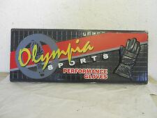 Vintage Olympia Motorcycle Gloves Display Sign GARAGE MAN-CAVE SHOP