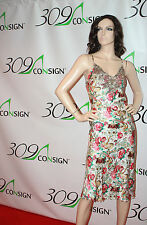 New PLENTY TRACY REESE 10 Medium Pink Green 100% Silk Floral Slip Sun Dress M