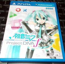 Playstation PS Vita PSV Next Hatsune Miku Project Diva F Asian Game Japanese