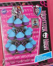 Monster High Cupcake/Treat Stand,Cardboard,Wilton,1512-6677,Black/Pink,