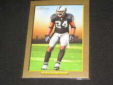CHARLES WOODSON RAIDERS LEGEND PACK PULLED AUTHENTIC FOOTBALL INSERT CARD /50