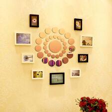 31Pcs 3D Round Mirror Wall Sticker Decor Decal Art Mural Home Bathroom DIY