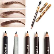 New Eyebrow Pen Black & Brown Eye Brow Pencil Liner Comb Brush Makeup Waterproof