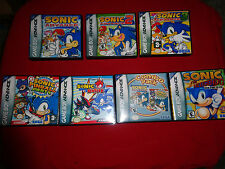 EMPTY CASES  Sonic the Hedgehog Genesis Collection Nintendo Game Boy Advance GBA
