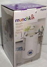 Munchkin Digital 2 Minute Bottle Warmer Grey & White New Distressed Box