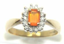 Anillos de joyería con diamantes anillo con piedra de oro amarillo de compromiso