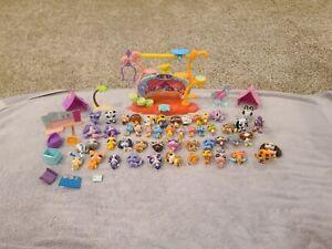 littlest pet shop lot Dogs Cats Birds 48 pets + accessories LPS