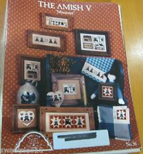 THE AMISH  V MINIATURES  CROSS STITCH LEAFLET/BOOK