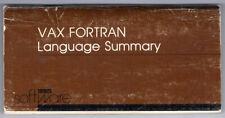 Dec Digital Equipment Corp Vax Fortran Language Summary Manual Av-M763B-Te
