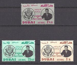 DUBAI , KENNEDY , 1964 ,  SET OF 3  PERF , MNH