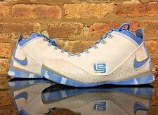 Nike Lebron Zoom Soldier 2 North Carolina Tar Heels DS Men's Size 12 White/Blue