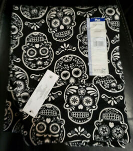 Terra & Sky Day of the Dead Leggings Plus Size Sugar Skull  5X (32W - 34W) SOFT!
