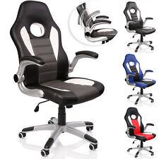 TRESKO® Office Swivel Chair 74cm High Back Large Seat Tilt Function Gaming PU