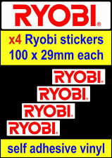4 Ryobi Stickers motorsport Sponsor Tool Box workshop car van decal adhesive
