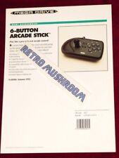 ARCADE STICK locale PROMO SHEET - 1994, Mega Drive, UK trade show, Ects!